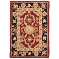 Handmade Oushak Traditional Red Wool Rug (2' x 3')