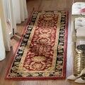 Handmade Oushak Traditional Red Wool Runner (2'3 x 10')