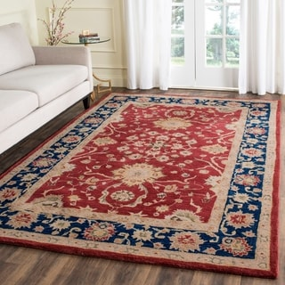 Safavieh Handmade Oushak Traditional Red Wool Rug (3' x 5')