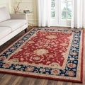 Handmade Oushak Traditional Red Wool Rug (3' x 5')