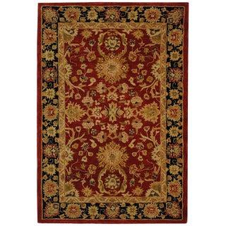 Safavieh Handmade Oushak Traditional Red Wool Rug (5' x 8')