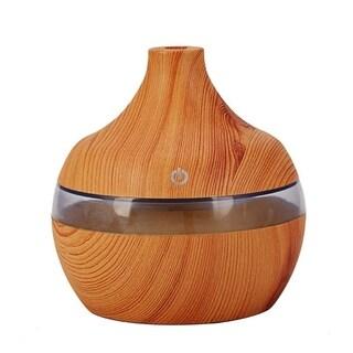 Mini Humidifier Wood Grain LED Ultrasonic Humidifier USB Multicolor Aromatherapy