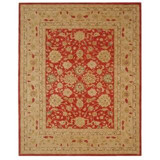 Safavieh Handmade Mahal Ancestry Red/ Ivory Wool Rug (8' x 10')