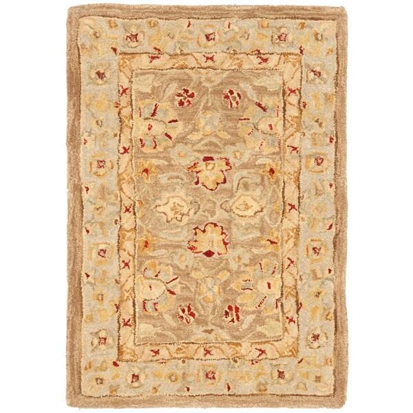 Safavieh Anatolia Handmade Tan / Ivory Wool Rug (2' x 3')