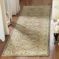 Handmade Ancestry Tan/ Ivory Wool Runner (2&#39;3 x 12&#39;)