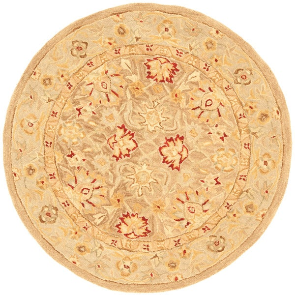 Safavieh Handmade Ancestry Tan/ Ivory Wool Rug (4' Round)