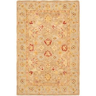 Safavieh Handmade Ancestry Tan/ Ivory Wool Rug (4' x 6')