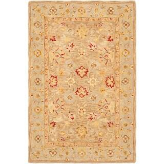 Safavieh Handmade Ancestry Tan/ Ivory Wool Rug (5' x 8')