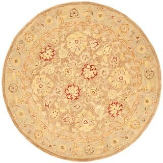 Safavieh Handmade Ancestry Tan/ Ivory Wool Rug (6' Round)