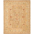 Handmade Ancestry Tan/ Ivory Wool Rug (6' x 9')