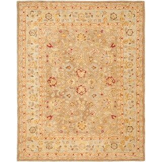 Handmade Ancestry Tan/ Ivory Wool Rug (9' x 12')