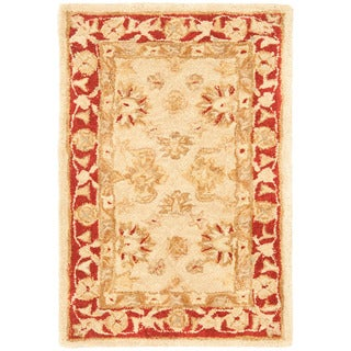 Safavieh Handmade Ancestry Ivory/ Red Wool Rug (2' x 3')