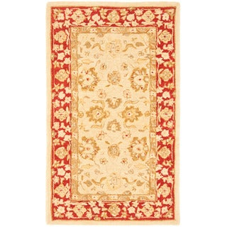 Safavieh Handmade Ancestry Ivory/ Red Wool Rug (3' x 5')