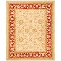 Safavieh Handmade Ancestry Ivory/ Red Wool Rug (5' x 8')