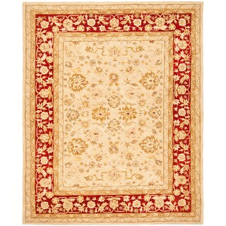 Safavieh Handmade Ancestry Ivory/ Red Wool Rug (9'6 x 13'6)