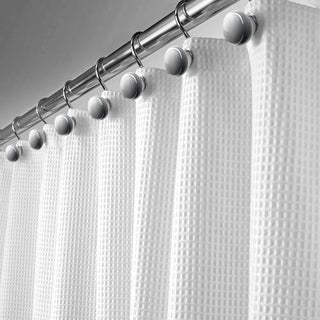 Waffle Shower Curtain White - Includes PEVA liner 72x72 inch