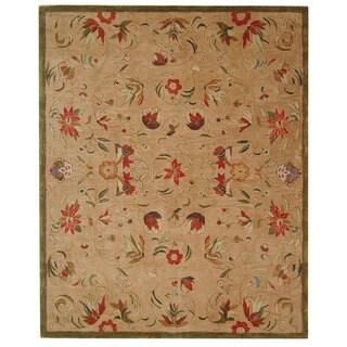 Safavieh Handmade Descent Beige Wool Rug (5' x 8')