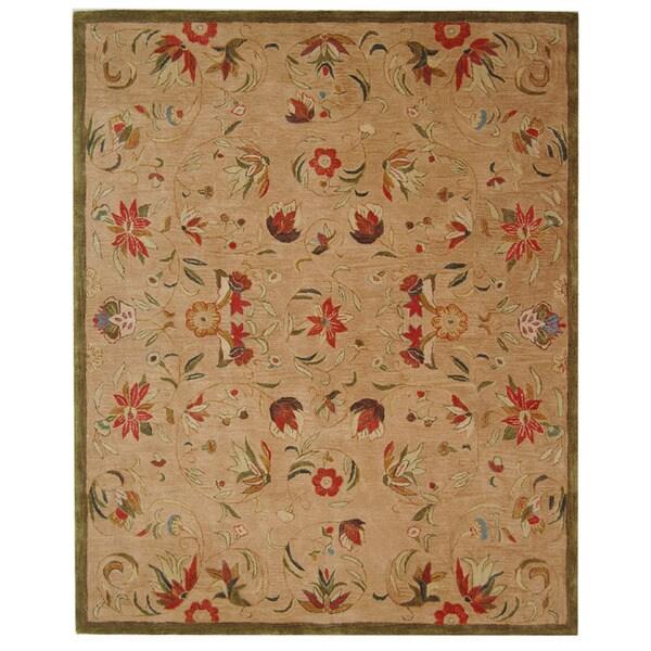 Safavieh Handmade Descent Beige Wool Rug (6' x 9')