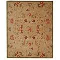 Safavieh Handmade Descent Beige Wool Rug (8' x 10')