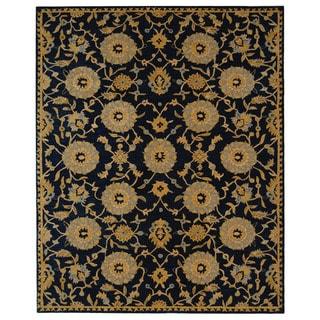 Safavieh Handmade Medallions Navy Wool Rug (8' x 10')