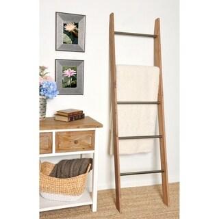 Metal Rung Industrial Modern Blanket Ladder
