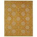 Safavieh Handmade Medallions Gold Wool Rug (9' x 12')