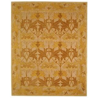 Safavieh Handmade Nomadic Ivory/ Gold Wool Rug (5' x 8')