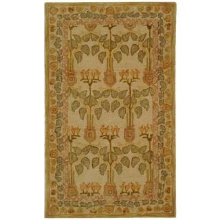 Safavieh Handmade Ancestral Tree Ivory/ Green Wool Rug (2' x 3')