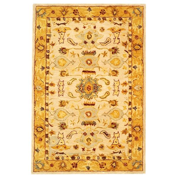 Safavieh Handmade Tribal Ivory/ Gold Wool Rug (3' x 5')