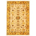 Safavieh Handmade Tribal Ivory/ Gold Wool Rug (5' x 8')