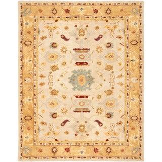 Safavieh Handmade Tribal Ivory/ Gold Wool Rug (8' x 10')