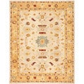Safavieh Handmade Tribal Ivory/ Gold Wool Rug (8' x 10')