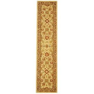 Handmade Heirloom Ivory Wool Runner (2'3 x 10')