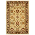 Handmade Heirloom Ivory Wool Rug (4' x 6')