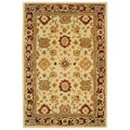 Handmade Heirloom Ivory Wool Rug (5' x 8')