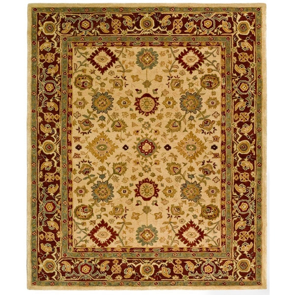 Safavieh Handmade Heirloom Ivory Wool Rug (8' x 10')