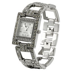 Geneva Platinum Women's  Marcasite Antique  Watch