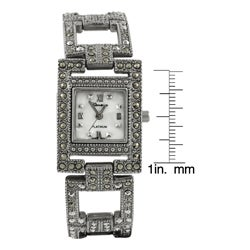 Geneva Platinum Women's  Marcasite Antique Inspired Watch