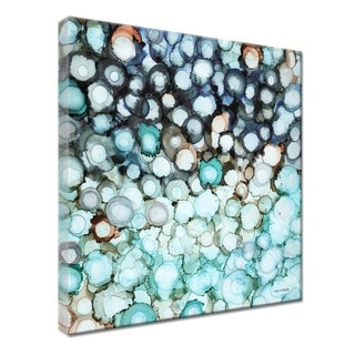 "Norman Wyatt Home ""Sea Diamonds"" Blue Beach Gallery Wrapped Canvas"