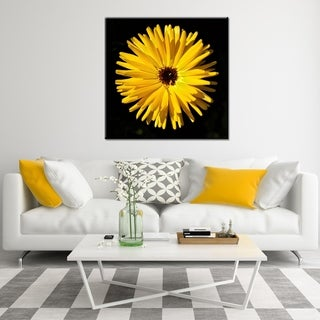 "Norman Wyatt Home ""Sunshine"" Yellow Floral Photography Canvas Wall Art"