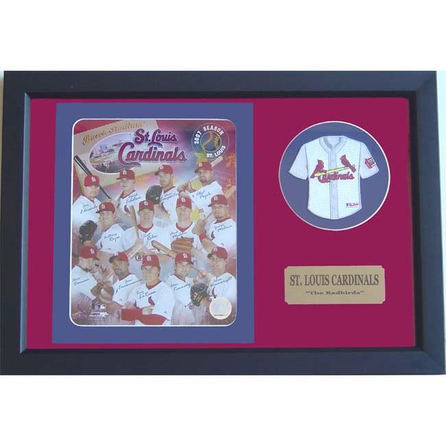 St. Louis Cardinals 2007 Team Photo and Mini Jersey