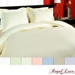 Royal Luxe 315 Thread Count Sateen 3-piece Duvet Cover Set