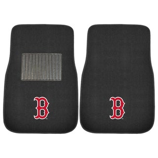"""FANMATS Boston Red Sox 2 Piece Embroidered Car Mat Set 17""""x25.5"""""""