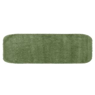 Traditional Plush Deep Fern Washable Nylon Bathroom Rug Runner