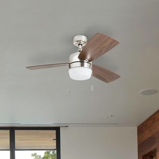 Honeywell Barcadero Modern Brushed Nickel LED Ceiling Fan with Integrated Light - 44-inch