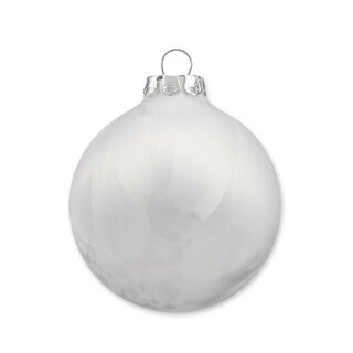 Handmade Glass Christmas Ornaments, Ice-Look, 18pc Set