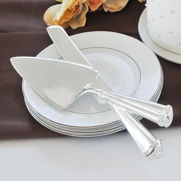 With Love Wedding Cake Knife & Serving Set