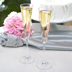 Modern Flare Toasting Flutes