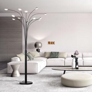 """Artiva """"Quan Money Tree"""" 12-Light 48W 84"""" LED Floor lamp with Dimmer"""