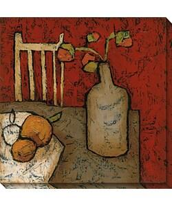 DeRosier 'Vase with Fruit II' Canvas Art